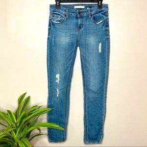 Eunina Skinny Ankle Distressed Jeans 4/$25